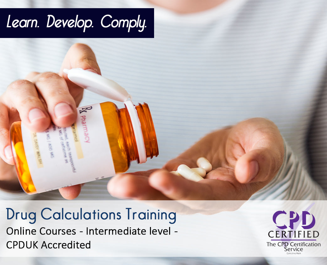 Online Drug Calculations Courses and Training - eLearning Course -The Mandatory Training Group UK -