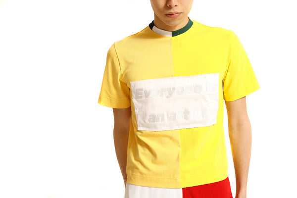 YELLOW PATCHWORK TEE - MONOPOLIST  - 4