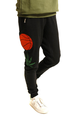 BLACK EMBROIDERED SWEATPANTS - MONOPOLIST  - 1