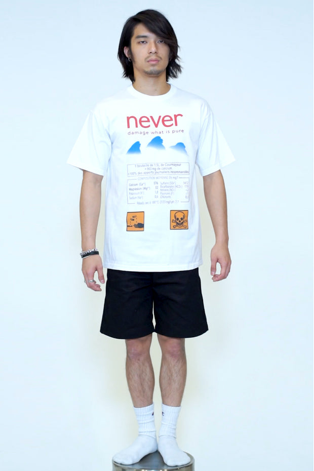 NEVER DAMAGE DIGITAL PRINT TEE COME IN A BOTTLE