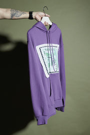 HOODIE WITH STAMP PATCH