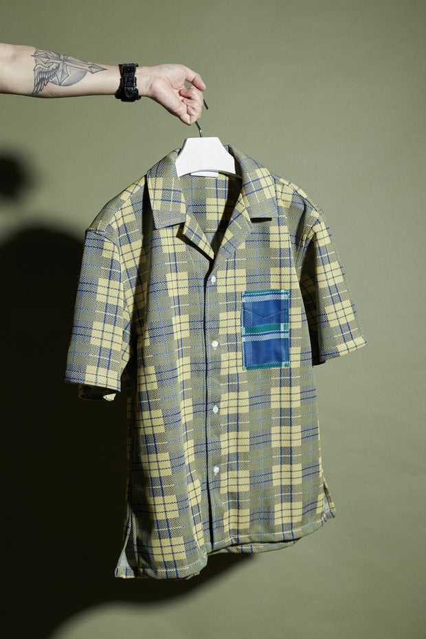 YELLOW CHECKS JACQUARD SHIRT