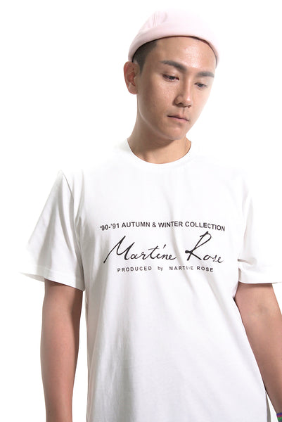 MARTINE ROSE SHORT SLEEVE LOGO TEE