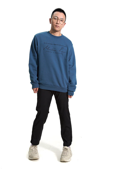 MARTINE ROSE LONG SLEEVE LOGO SWEATSHIRT