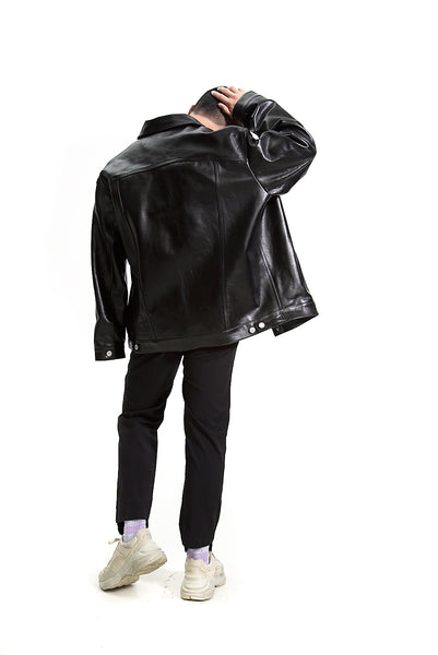 MARTINE ROSE OVERSIZE LEATHER JACKET