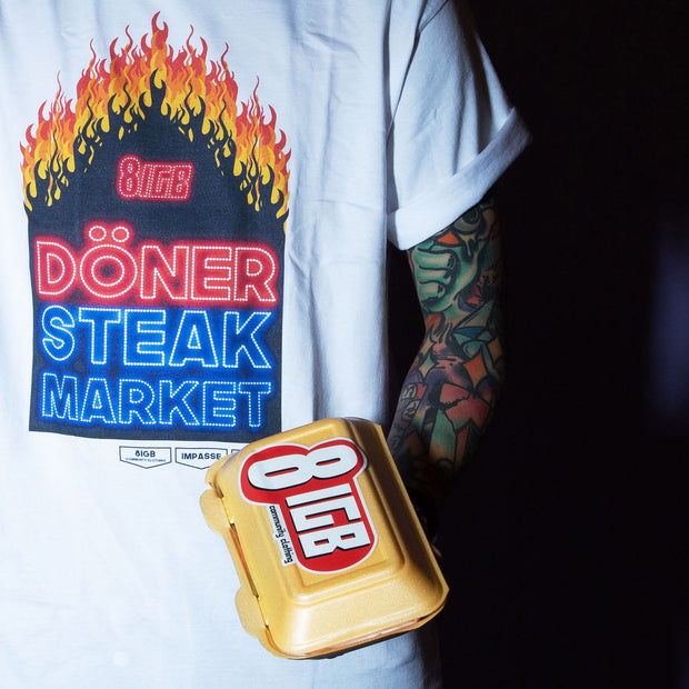 DONER STEAK DIGITAL PRINT TEE COME IN A STEAKBOX