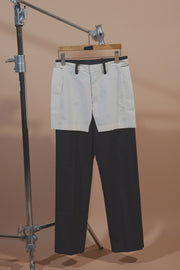 HALF LINED FRONT PANTS