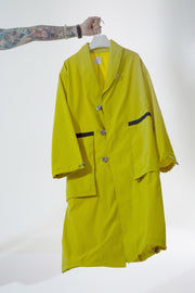 SHAWL COLLAR ZIP POCKET COAT