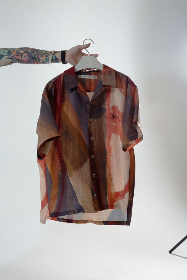 BROWN PRINT SHIRT