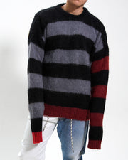 MOHAIR CROPPED STRIPY JUMPER