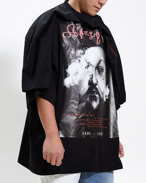 "ARCHIEVE - ""HENRY THE 8TH"" COTTON JERSEY T-SHIRT (SPECIAL CUT)"