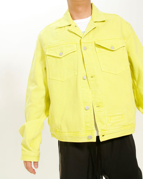 ACID YELLOW DENIM JACKET