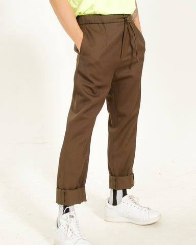 TAPERED DRAWSTRING TROUSER