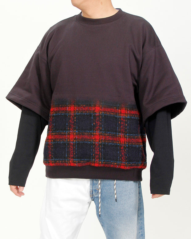 CHECKS MIX SWEATSHIRT
