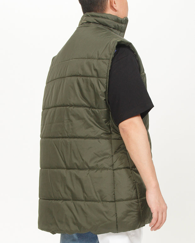 LOGO EMBROIDERED QUILTED GILET