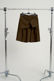 FRONT TIE TAILORED SHORTS