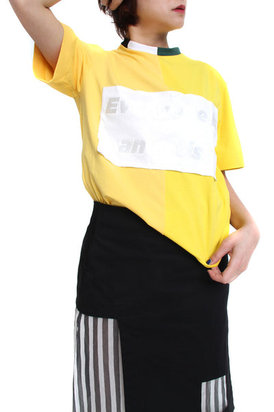 YELLOW PATCHWORK TEE - MONOPOLIST  - 2