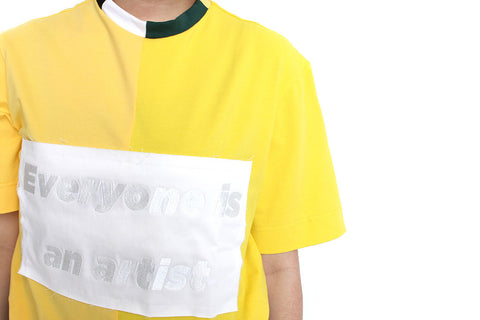 YELLOW PATCHWORK TEE - MONOPOLIST  - 1