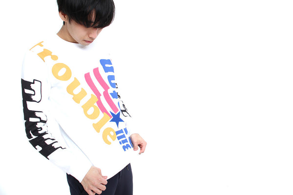 WHITE GRAPHIC SWEATSHIRT - MONOPOLIST  - 2
