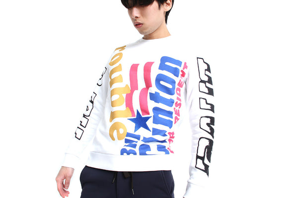 WHITE GRAPHIC SWEATSHIRT - MONOPOLIST  - 1