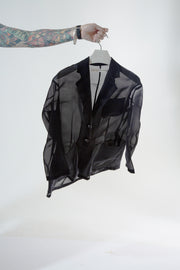 BLACK SHEER LONG JACKET