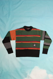BROKEN STRIPE CREWNECK
