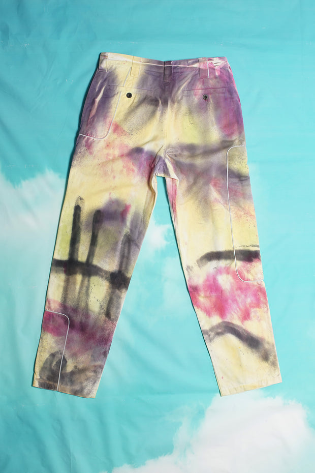 SPRAY DYED DENIM TROUSER