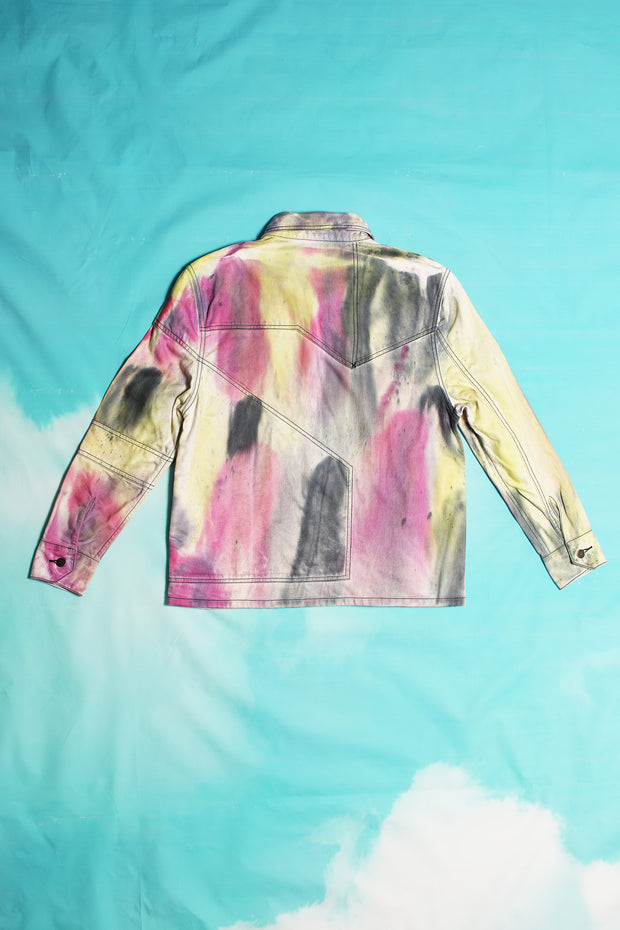 SPRAY DYED DENIM SHIRT