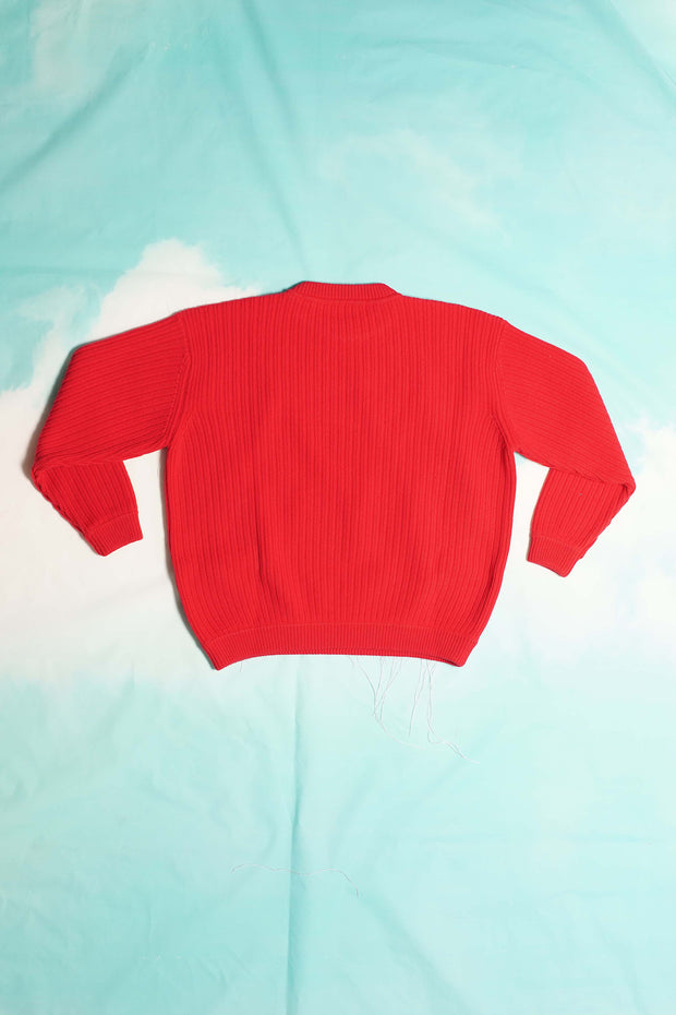 RED ARLECCHINO PULLOVER