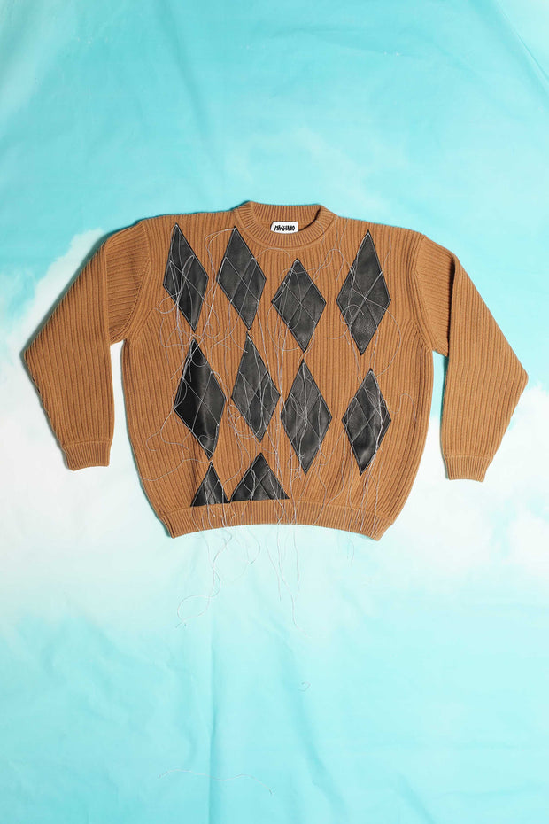 BROWN ARLECCHINO PULLOVER