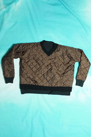 BIG PADDED V NECK REVERSIBLE PULLOVER