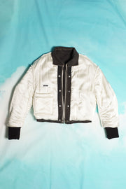 PUFFY DENIM REVSERSIBLE JACKET