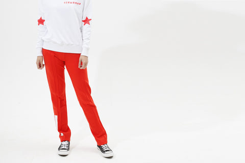 RED PANTS WITH WHITE STRIPS - MONOPOLIST  - 8