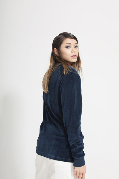 ORGANIC COTTON VELOUR SWEATSHIRT