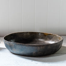 Blue-Grey Large Sculptural Bowl