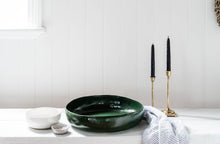 Large Sculptural Bowl: Green