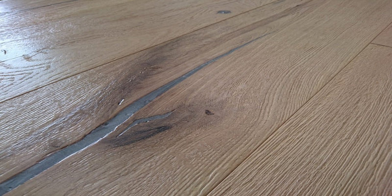 190mm Rustic Raw & Natural Engineered European Oak Wood Flooring 14/3.2 Thick