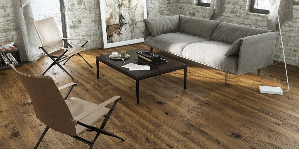 130mm Classic Brown Sugar Matt Lacquered Engineered European Oak Wood Flooring 14 Thick
