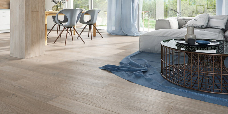 Classic Engineered European Rustic Oak Flooring 14mm x 130mm Smoke Grey Oak Brushed Matt Lacquered