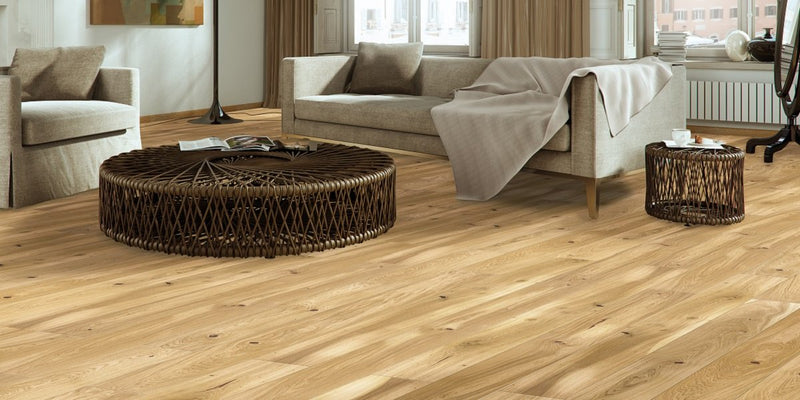 155mm Classic Oak Lacquered Engineered European Oak Wood Flooring 14 Thick