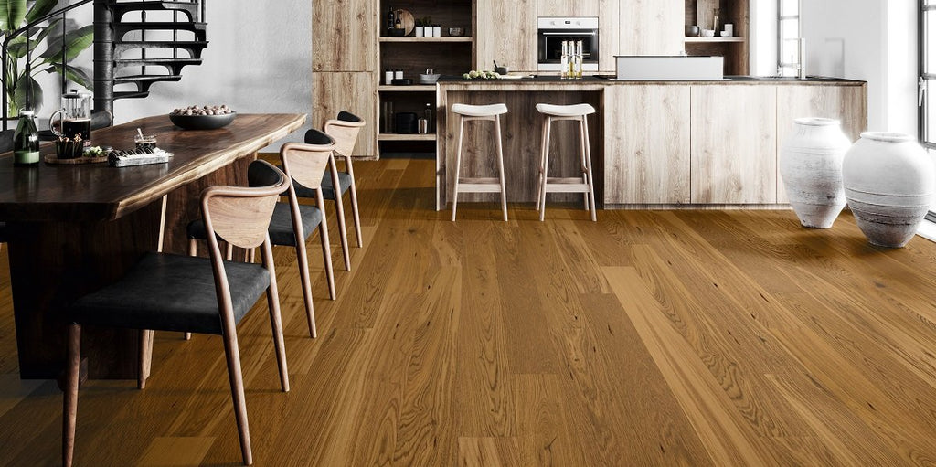 155mm Classic Dark Oak Brushed Matt Lacquered Engineered European Oak Wood Flooring 14 Thick