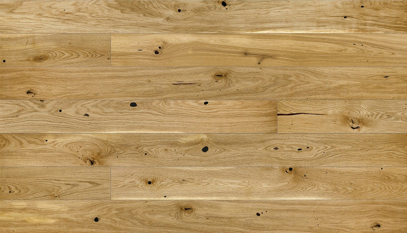 180mm Premium Oak Brushed and Oiled Engineered European Oak Wood Flooring 14 Thick