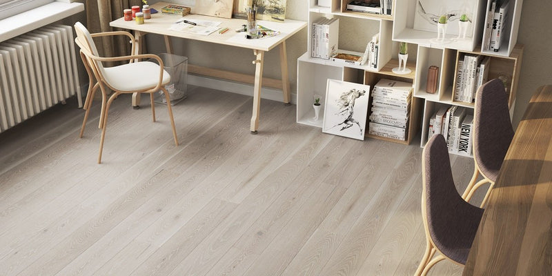 180mm Premium Clay Grey Oak Brushed Matt Lacquered Engineered European Oak Wood Flooring 14 Thick
