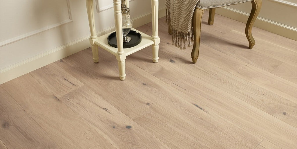 180mm Premium Oak Invisible Brushed Matt Lacquered Engineered European Oak Wood Flooring 14 Thick