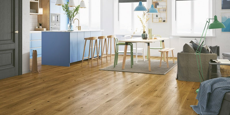 180mm Premium Smoked Oak Brushed Matt Lacquered Engineered European Oak Wood Flooring 14 Thick