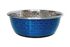 Durabowl Bone Embossed Bowl - Blue