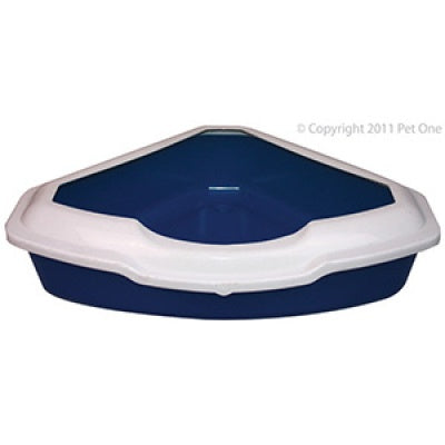 Pet One Litter Tray - Corner Large with Lid