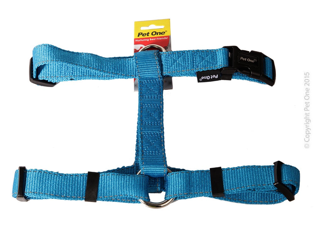 Pet One Reflective Harness - Aqua