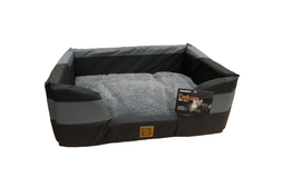Delux Water Resistant Bed - Black & Grey