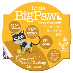 Little Big Paw Cat Food - Turkey Mousse